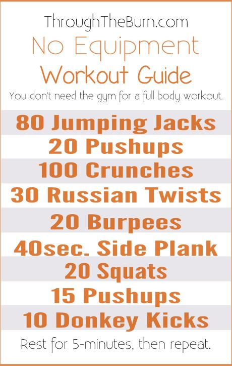 No Equipment Workout Guide
