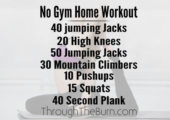 No Gym Home Workout Plan
