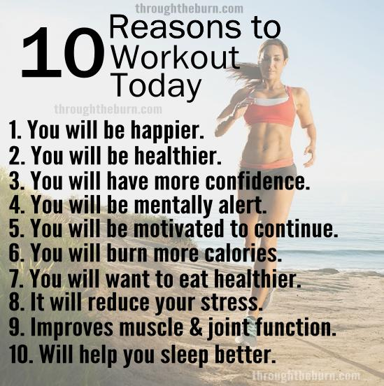 10 Reasons You Should Workout Today